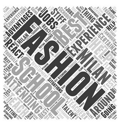 Fashion school in milan word cloud concept vector