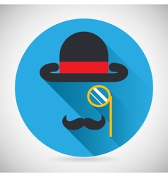 Gentleman Accessories Symbol Bowler Hat and vector image vector image