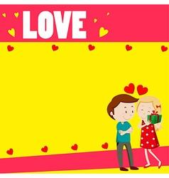 Love couple on paper design vector
