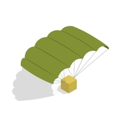 Military parachute icon isometric 3d style vector