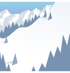 Outdoor winter landscape background vector