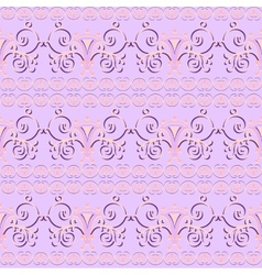 Pink floral seamless pattern ornament background vector image vector image