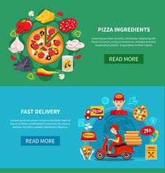 pizza fast delivery banners vector image vector image