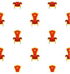 Red royal throne pattern flat vector