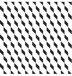 Retro memphis geometric cube shapes seamless vector