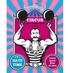 Retro vintage circus poster vector