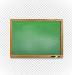 School blackboard on transparent background Back vector image vector image