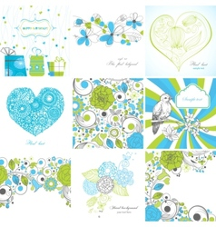 Set of greeting cards vector