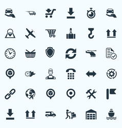Set of simple systematization icons elements vector
