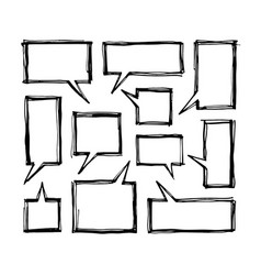 Square speech bubbles vector