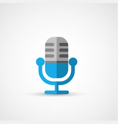 Steel microphone icon vector