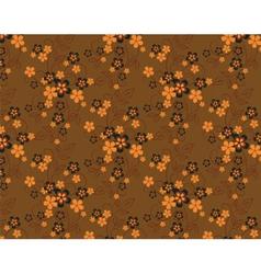 Summer flowers pattern background vector