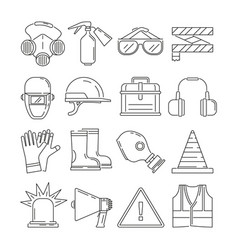 symbols of safety work protection for health vector image