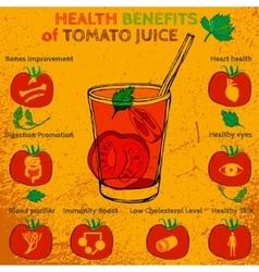Tomato juice benefits vector