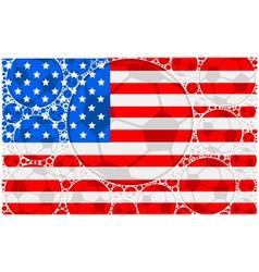 USA soccer balls vector image