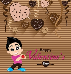 Valentines day and boyfriend love confess on heart vector