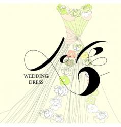 wedding dress vector image vector image
