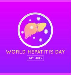 World hepatitis day icon design vector
