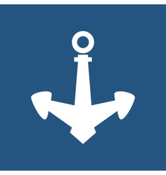 Anchor isolated on blue vector