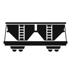 Freight railroad car icon simple style vector