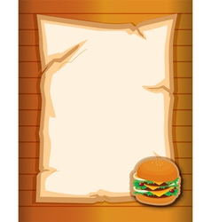 An empty stationery with a burger vector