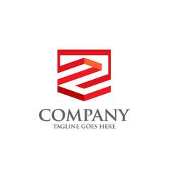 Best letter z geometric logo symbol vector