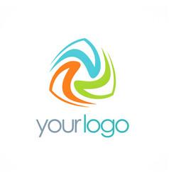 Circle abstract colored logo vector