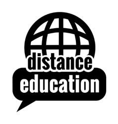 Black distance education vector