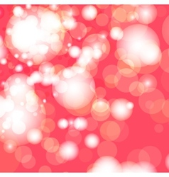 Red and white bokeh lights vector