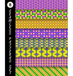 Mardi gras seamless patterns carnival backgrounds vector