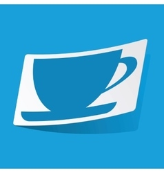 Cup sticker vector