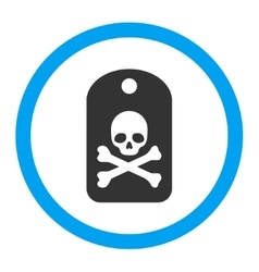 Death sticker rounded icon vector