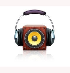 Sound loud speaker vector