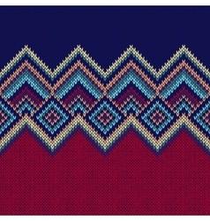 Seamless pattern knit woolen ornament texture vector