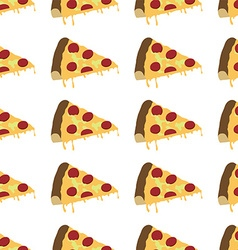 Italian pizza slice pattern seamless vector
