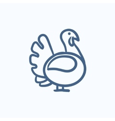 Turkey sketch icon vector