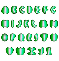 Abstract alphabet colorful vector