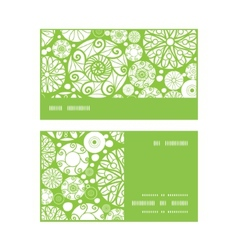 Abstract green and white circles horizontal stripe vector
