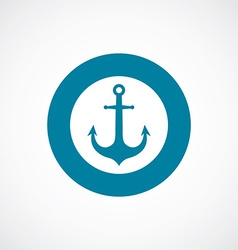 Anchor icon bold blue circle border vector