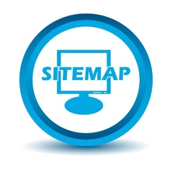 Blue sitemap icon vector