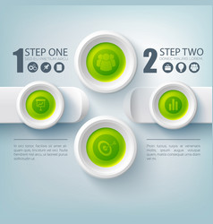 business infographic step by step vector image vector image