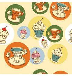 cafe pattern vector image vector image