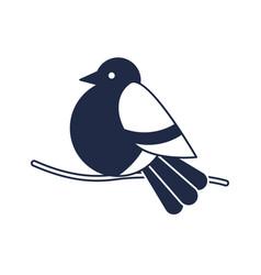Christmas bird isolated icon vector