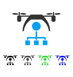 Copter distribution scheme flat icon vector