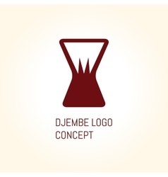 Djembe logo concept vector image vector image