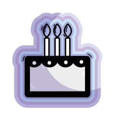 Figure delicious cake happy birthday celebration vector
