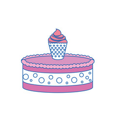 gateau cake sweet vector image
