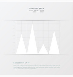 graph and infographic design white color vector image vector image