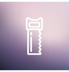 Hacksaw thin line icon vector image