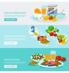 Healthy Food Banner vector image